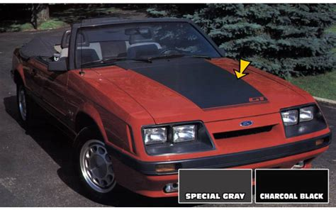 Graphic Express - 1985-86 Mustang GT Hood Blackout Decal