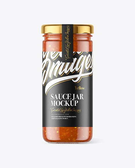 This dispenser bottle mockup to showcase your design with a realistic look. Clear Glass Jar with Sweet & Sour Sauce Mockup in Jar ...