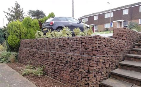 rock retaining wall cost low cost gabion retaining wall cheaper than block stone gabion walls are easy to build http