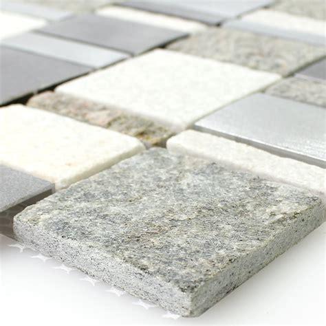 Metall Naturstein Mosaik Fliesen Mix Tm33422