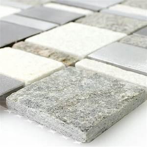 Stein Mosaik De : metall naturstein mosaik fliesen mix tm33422 ~ Markanthonyermac.com Haus und Dekorationen