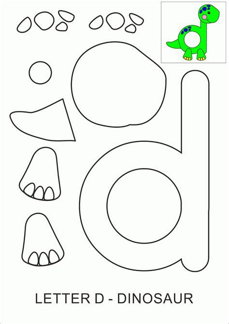 letter d dinosaur template preschool