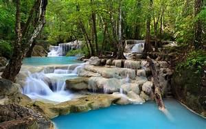 Tropical Waterfall Scenery Wallpaper