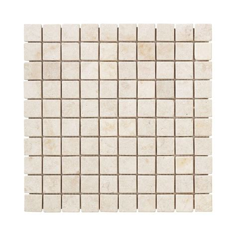 jeffrey court creama 12 in x 12 in x 8 mm mosaic marble