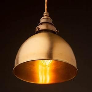 Brass, Dome, Light, Shade, Pendant