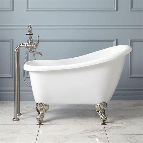 Small Bathtub Sizes by 43 Quot Mini Acrylic Clawfoot Tub Bathroom Clawfoot