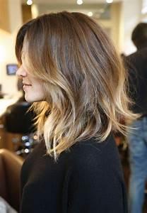 Ombré Hair Chatain : balayage cheveux mi long chatain ~ Dallasstarsshop.com Idées de Décoration