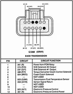 I Need A Wiring Diagram For The Transmission Plug On A 95 Ford Bronco With A 5 8