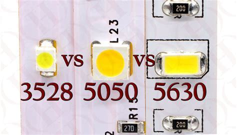 3528 vs 5050 vs 5630 LED SMD Diodes   Heraco Lights
