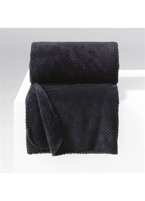 jete de canape noir jeté de canapé uni en flanelle jacquard noir