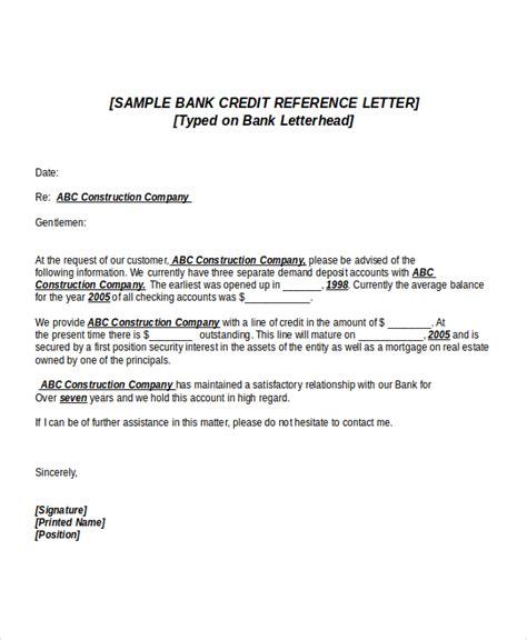 credit reference letter 6 credit reference letter templates free sle