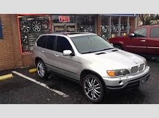 2002 BMW X5 SITTING ON 22'' VCT RIMS AT RIMTYME CHARLOTTE