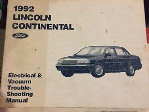 free online auto service manuals 1990 lincoln continental parking system 1992 lincoln continental ford wiring diagram evtm shop repair manual 92 ebay