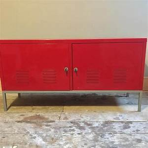 Buffet Metal Ikea : ikea retro red metal sideboard cabinet storage unit ps in cowes expired wightbay ~ Teatrodelosmanantiales.com Idées de Décoration