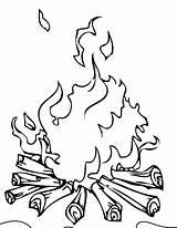 Campfire Coloring Pages Printable Camping Wonderful Getdrawings Getcolorings sketch template