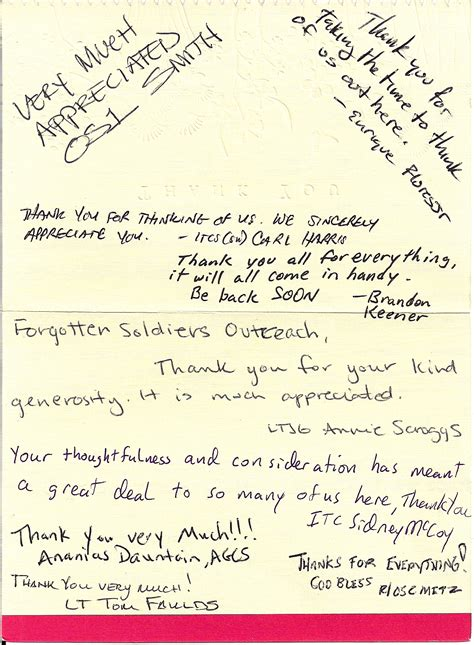 letters to soldiers soldiers speak forgotten soldiers outreach non profit 79990