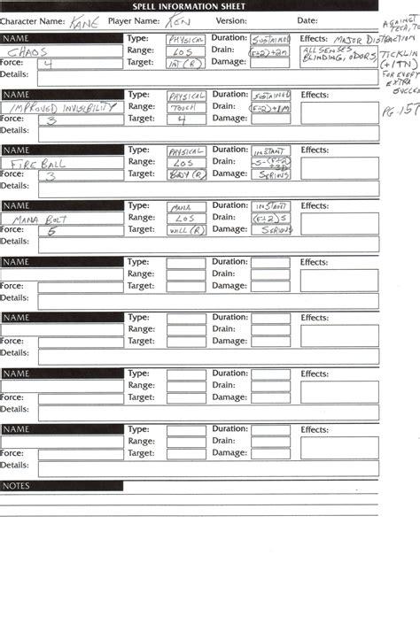 shadowrun character sheet 5th