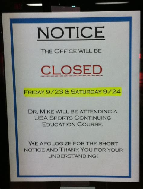 office will be closed sign template holiday office closed notice for christmas pictures to pin