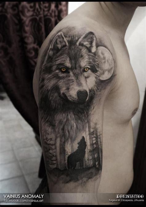 vainius anomaly art wolf tattoo tattoos pinterest