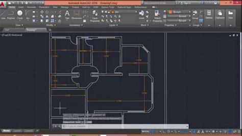 autocad  floor plan drawing youtube