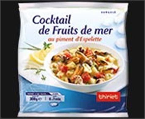 cuisiner cocktail de fruits de mer surgelé mélange de fruits de mer surgelé gamme poissons crustacés sur thiriet