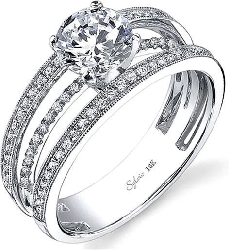 sylvie triple band diamond engagement ring sy689