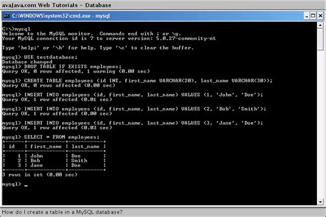 mysql show table contents how do i create a table in a mysql database web