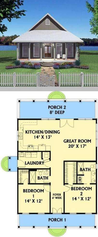 30+ Trendy Ideas House Plans Bungalow Layout Full Bath #