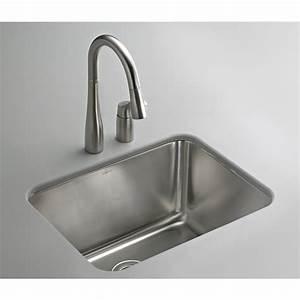 Shop KOHLER Stainless Steel Laundry Sink at Lowes com