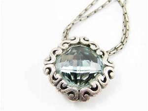 Brighton Jewelry Blue Rhinestone Pendant Necklace