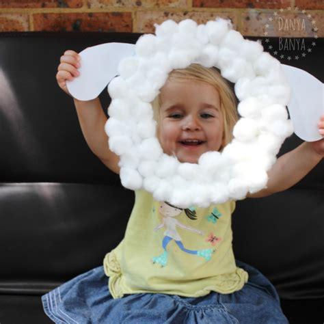 paper plate sheep mask  kids danya banya