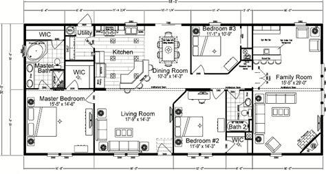 3 Bedroom Wide Floor Plans by Wide Mobile Home Floor Plans 5 Bedroom 3