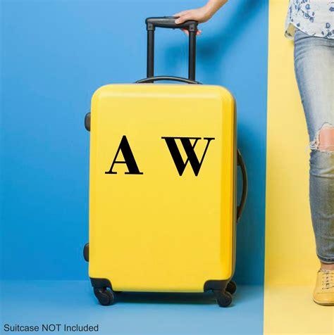 personalised initials sticker  suitcase topwallstickerscouk