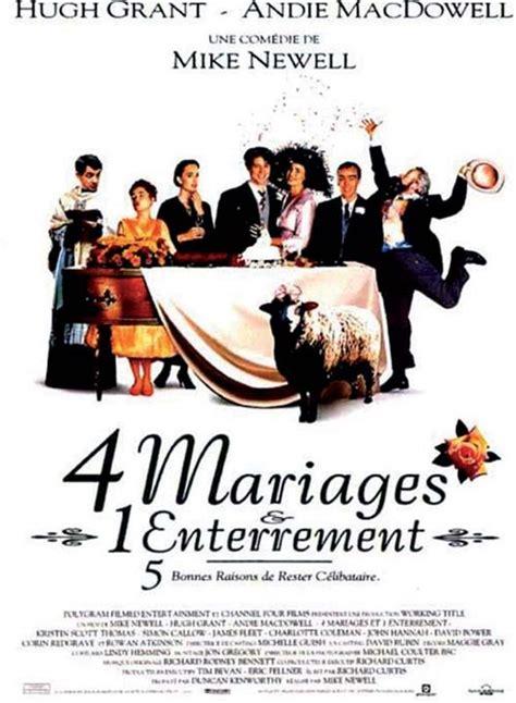 affiche du quatre mariages et un enterrement