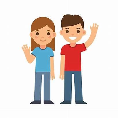 Clipart Brother Hello Clip Adolescent Pre Child
