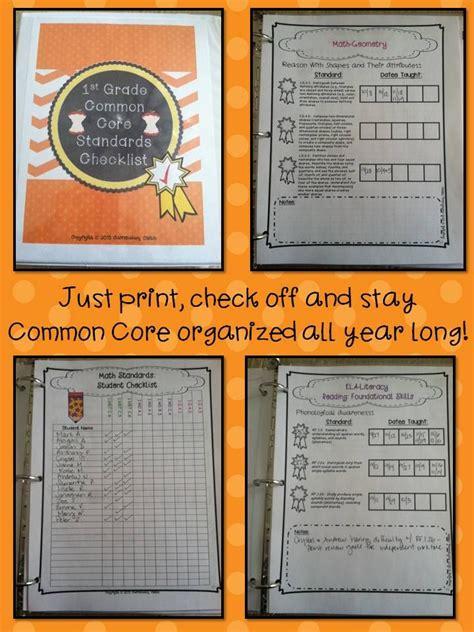 First Grade Common Core Math Skills Checklist  Transitional 1st Grade Skills Checklist Reading