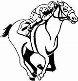 Horse Coloring Race Racing Clip Horses Clipart Derby Blank Sea Otter Kentucky Jockey Cartoon Cliparts Chun Clipartmag Happiness Stencil Silks sketch template