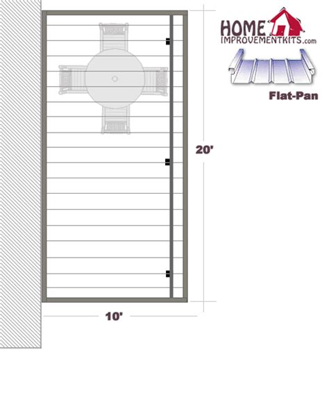 flat pan aluminum patio covers sale save 20 10 x
