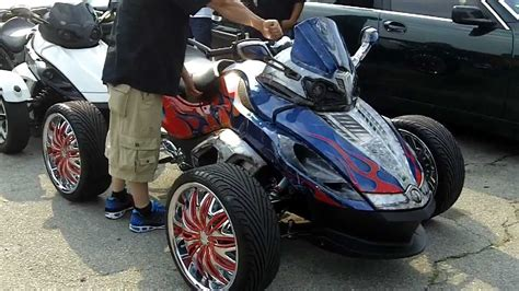 1st Four Wheel Can Am Spyder !! W/ Ridiculous System