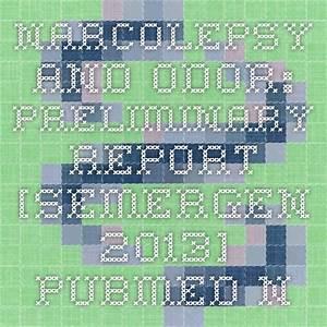 Narcolepsy And Odor  Preliminary Report   Semergen  2013
