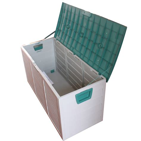 new garden outdoor plastic storage chest shed box
