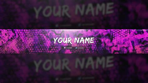 Free Colorful Texture Youtube Banner Template! +tutorial