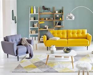 salon scandinave 38 idees inspirations diaporama With tapis yoga avec canapé vintage scandinave