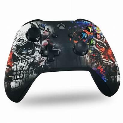 Xbox Tiger Skull Manette Coque Drawmypad Motifs