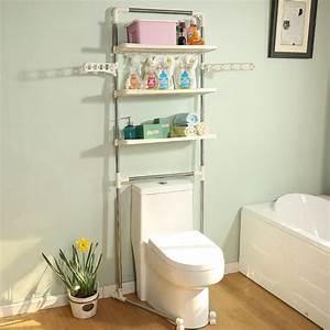 3, Tier, Over, The, Toilet, Shelf, Bathroom, Towel, Storage, Rack, Hanger, Organizer, Shelves, Space, Saver