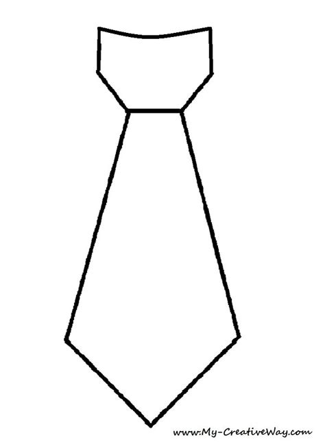 Tie Template Diy S Day Tie Shirt Tie Template Included
