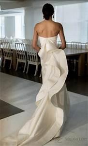 oscar de la renta caroline silk mikado trumpet gown With oscar de la renta wedding dress price