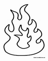 Fire Flames Coloring Flame Printable Template Drawing Pit Drawings Torch Electric Cartoon Fireplace Fjord Designlooter Truck Via Science Nature sketch template