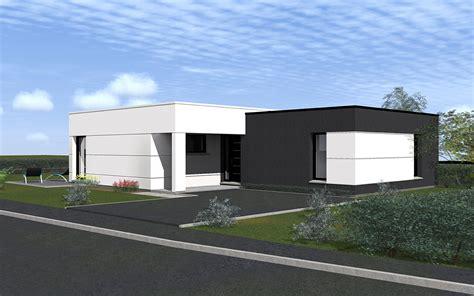 style de maison moderne plain pied maison moderne toit plat plain pied maison moderne