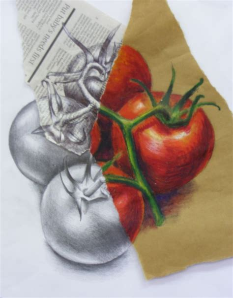 images  gcse art food observational drawings